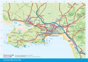 Air show - Swansea map