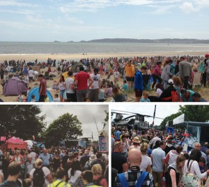 Crowds at the Wales National Airshow 2015