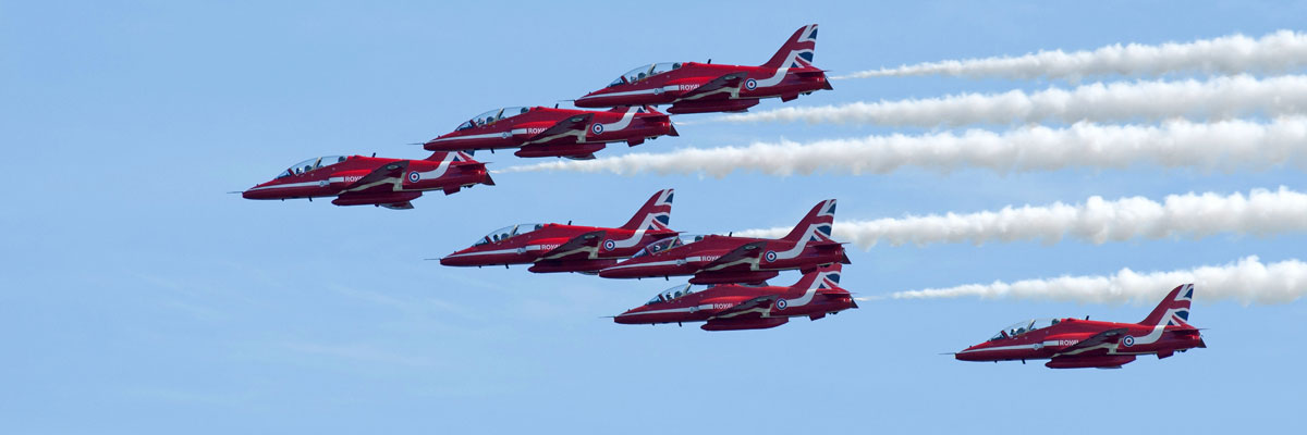 Red Arrows at Wales Airshow