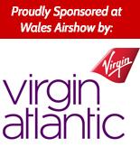 Sponsored at Walesa Airshow by Virgin Atlantic