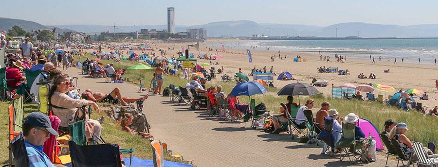 Crowds pack Swansea Bay beach for last years Wales Airshow