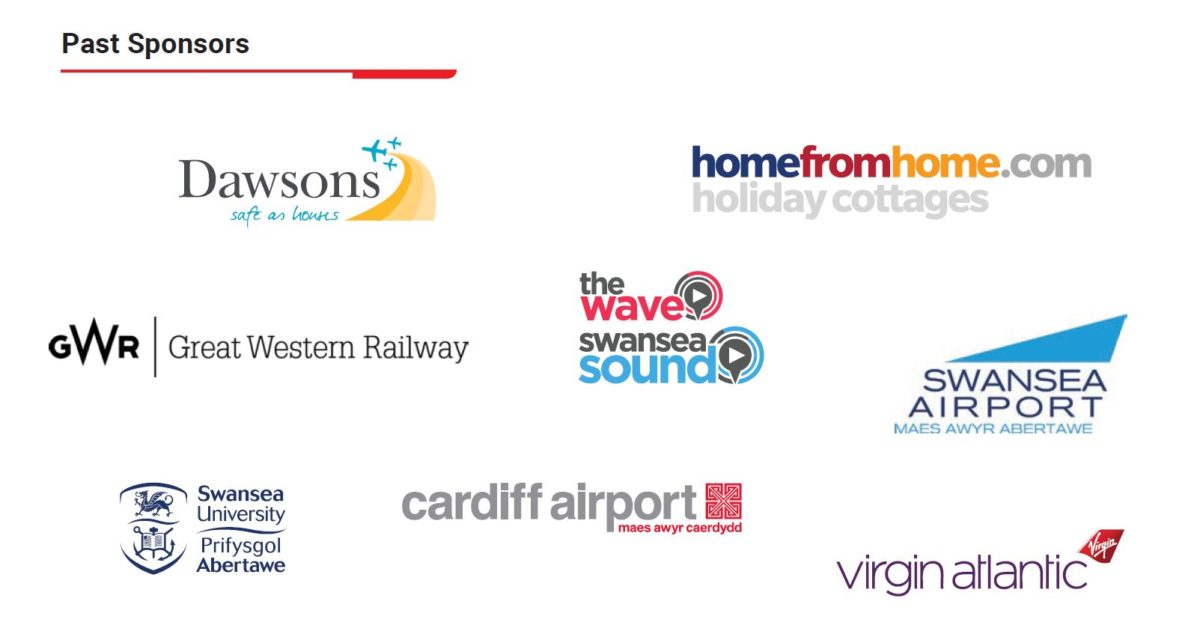 Image showing the logos of past sponsors of the Wales Airshow